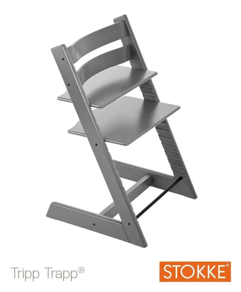 Chaise haute Tripp Trapp de Stokke en gris