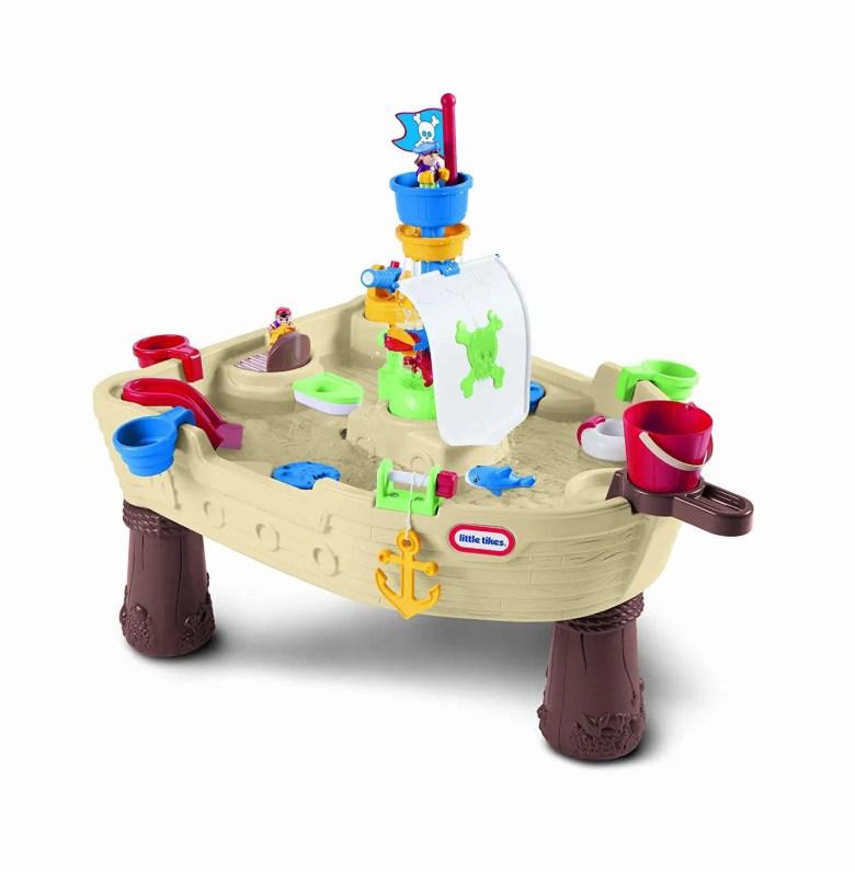 Table avec eau en forme de bateau de pirates jeux d'extérieur pour enfants
