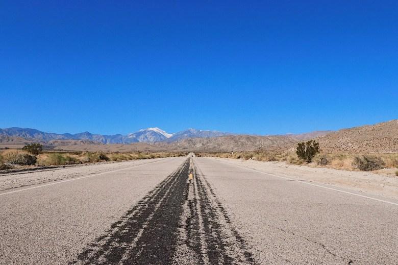 route californie palm springs