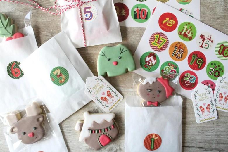 calendrier de l'avent enfants cookies personnalisés oh my cookies
