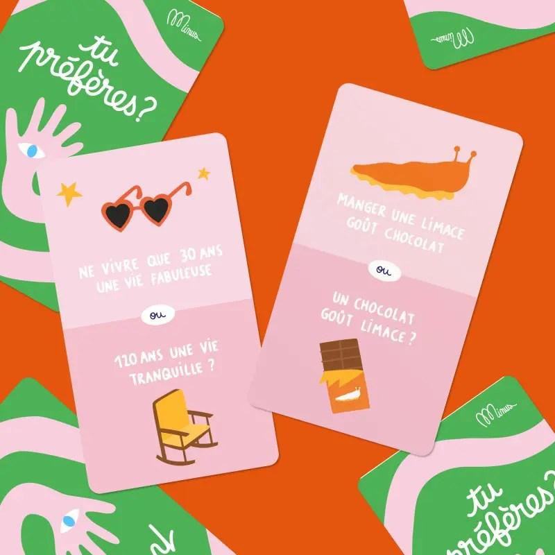 Jeu de cartes Minus Editions Dilemmes absurdes pour occuper les enfants en vacances