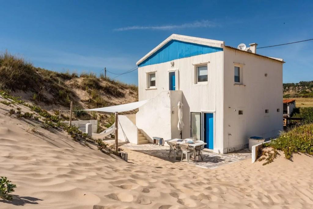 maison sur la plage au Portugal