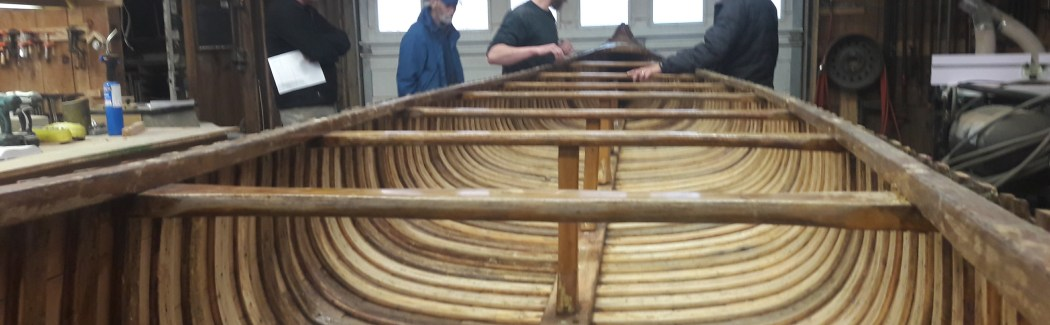 Canoe Restoration, visit to the shop, photo courtesy of Patrick Daniels