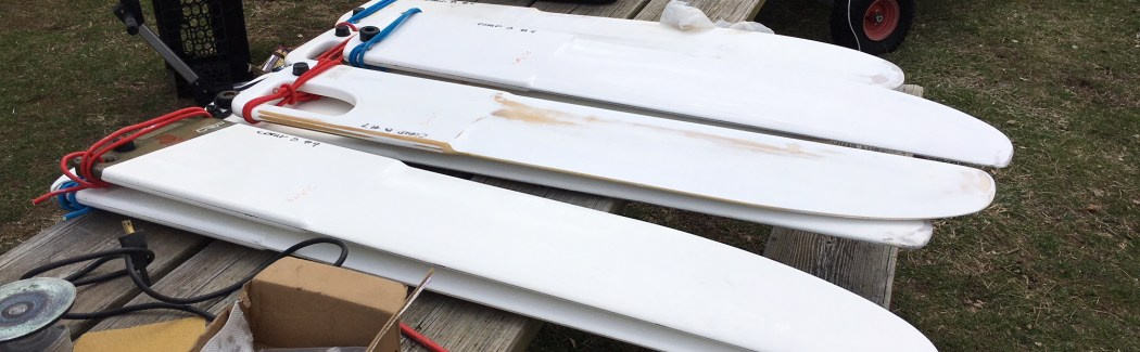 Spring Fleet Repairs - Sunfish daggerboards