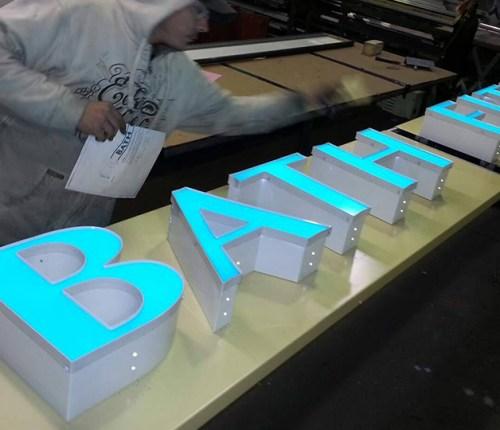 Sebago Signworks 3D lighted sign