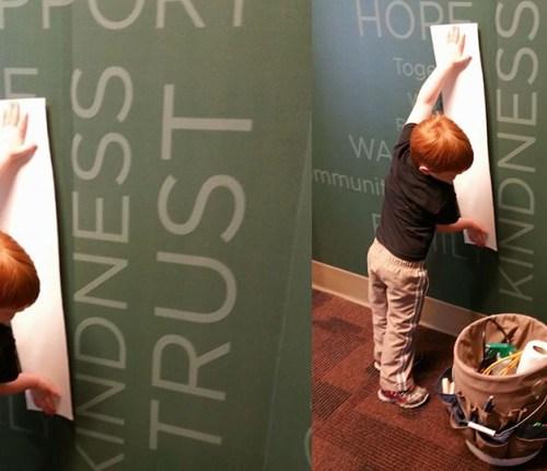 Sebago Signworks custom wall vinyl