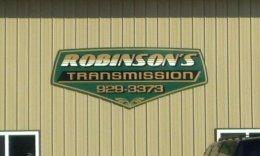 Sebago Signworks Robinson's business sign