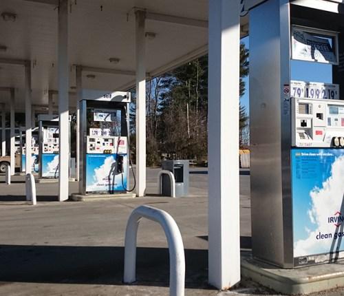 Sebago Signworks gas pump branding