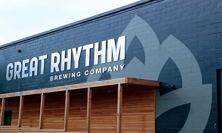 Brewing company signage
