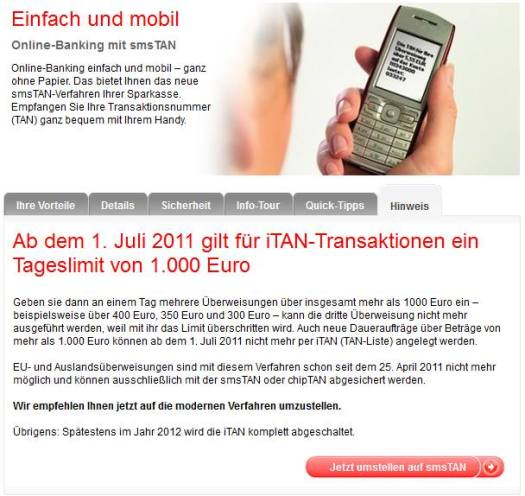 Screenshot © Berliner Sparkasse