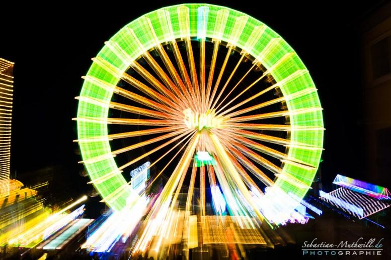 Riesenrad - Nachtfotografie Wurstmarkt 2014