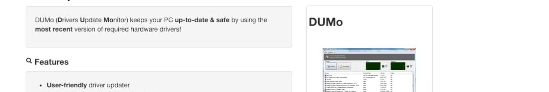 DUMo Drivers Update Monitor kcsoftwares