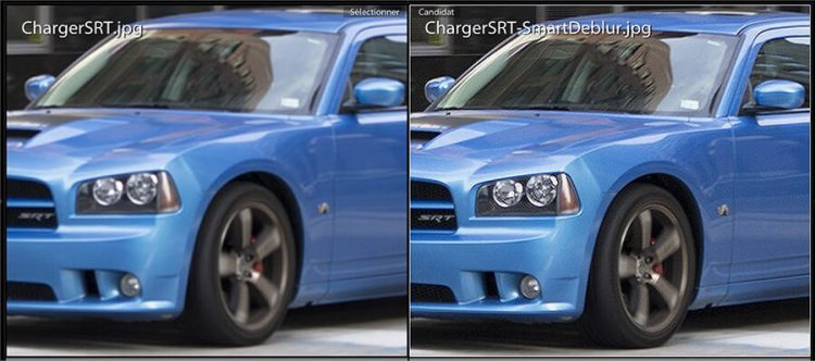 Corriger une Photo floue avec SmartDeblur - Compare