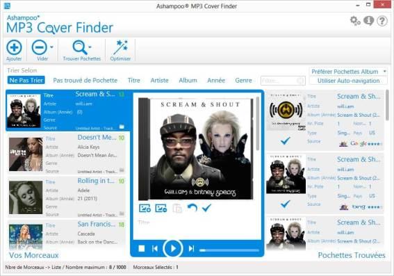Les meilleurs logiciels 2013 Multimedia - Ashampoo MP3 Cover Finder