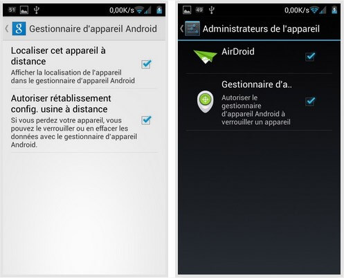 gestionnaire localisation android