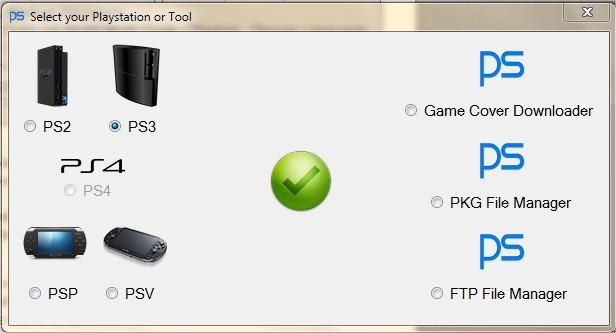 PS Multi Tools v10   Choix de la console Sony PS3 PS2 PS4 PS Vita PSP