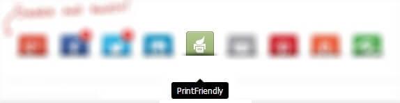 Print Friendly - Barre de partage
