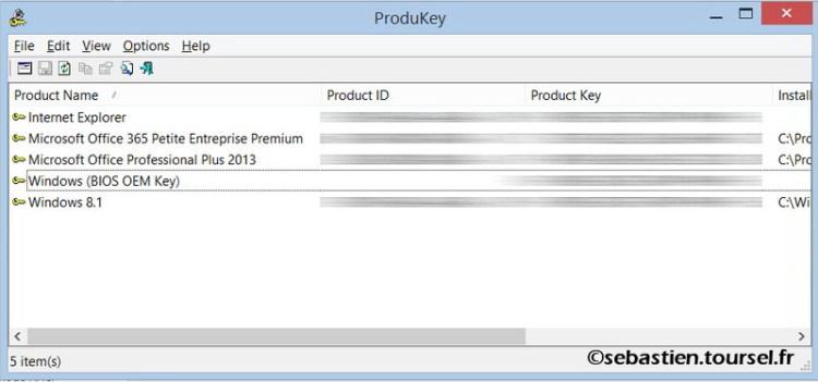ProduKey pour trouver vos clés Office et Windows
