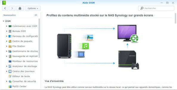 Synology dsm 5.1 Aide Contenu multimedia