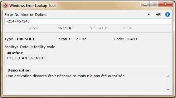 Windows Error Lookup Tool Interface