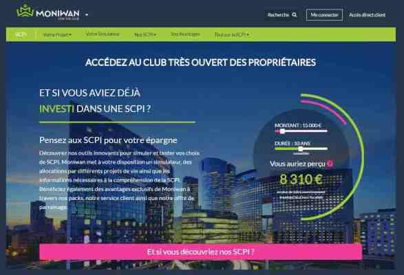 Capture d'écran de l'application Moniwan