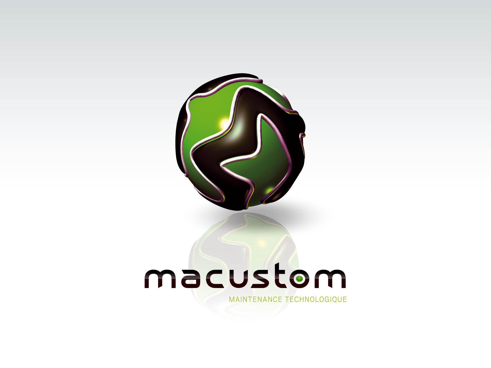 Création du logo Macustom