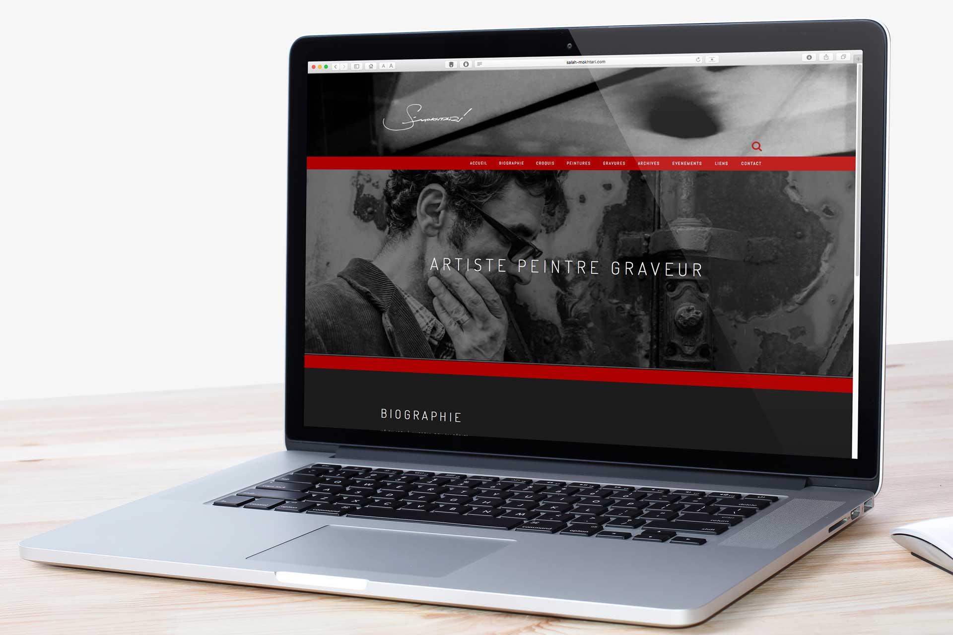 Site internet de l'artiste Salah Mokhtari