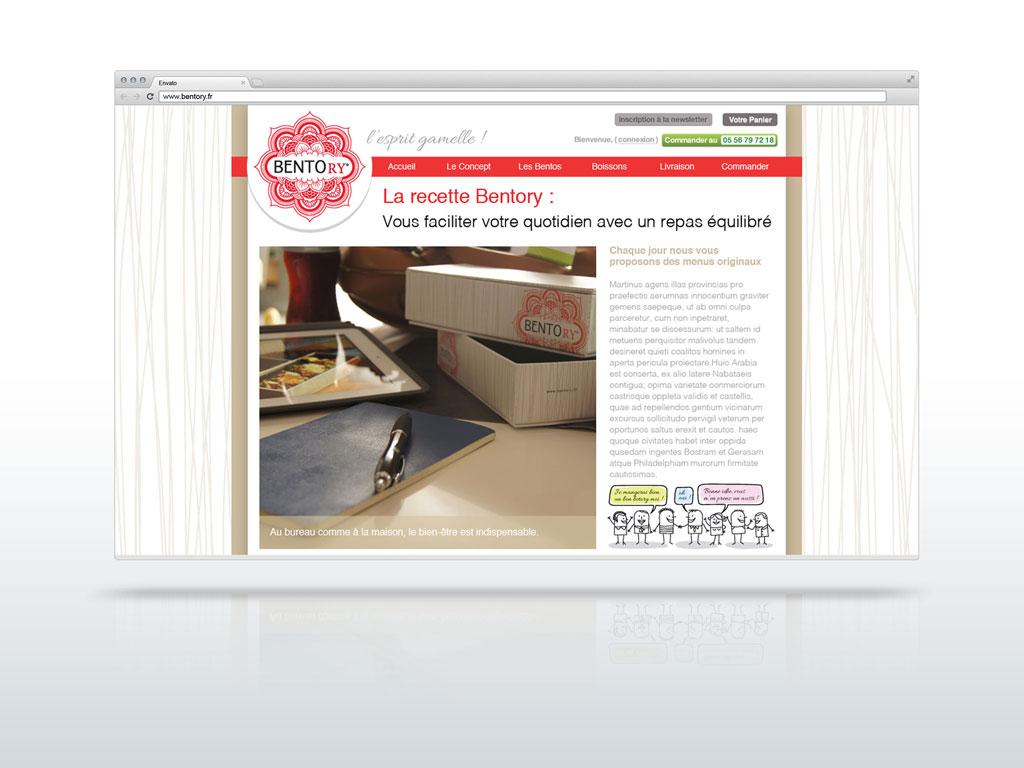 Page du site Bentory