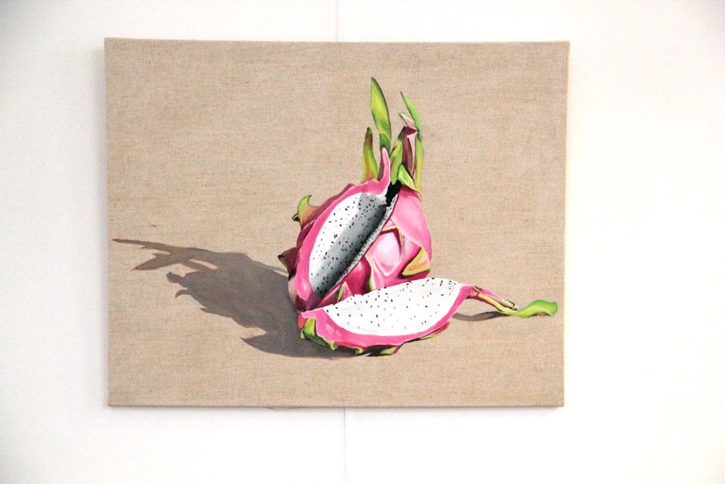 Fruit du Dragon Rose - 80 x 60 cm