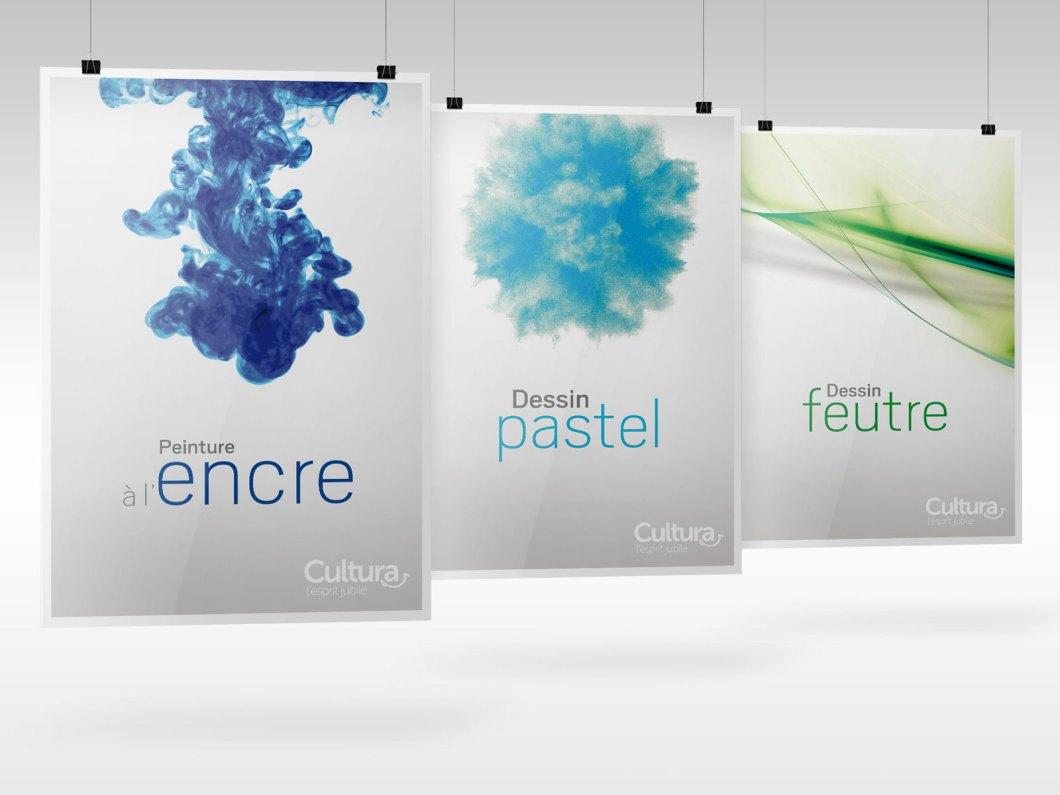 Déclinaison de trois autres affiches techniques