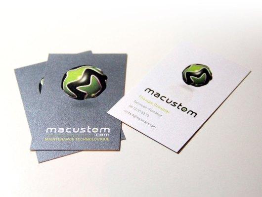 Cartes de visites Recto Verso Macustom