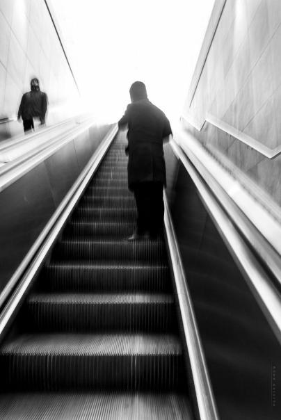 Escalator Metro Silhouette