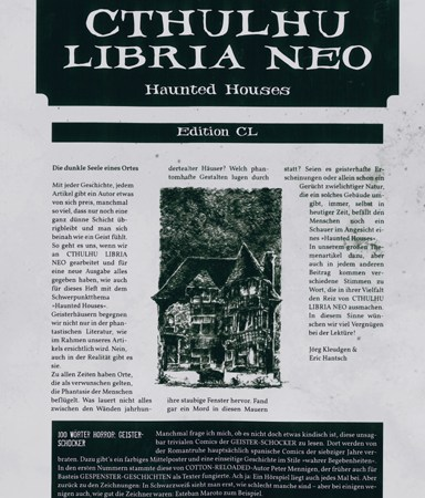 cthulhu libria neo- haunted houses