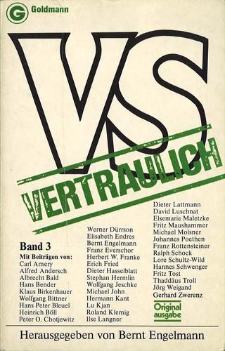 Bernt Engelmann (Hrsg.) - VS Vertraulich, Band 3