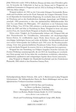 Das utopisch-phantastische Leibuch nach 1945 – Impressum
