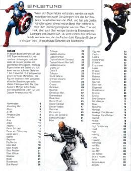 Lexikon der Superhelden Avengers – Inhaltsverzeichnis Seite 1