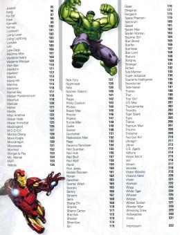 lexikon superLexikon der Superhelden Avenge – Inhaltsverzeichnis Seite 2