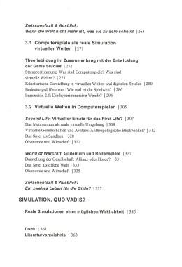Simulation und virtuelle Welten – Inhaltsverzeichnis Seite 3