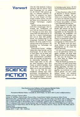 Zukunftsideen der Science Fiction Literatur … – Impressum