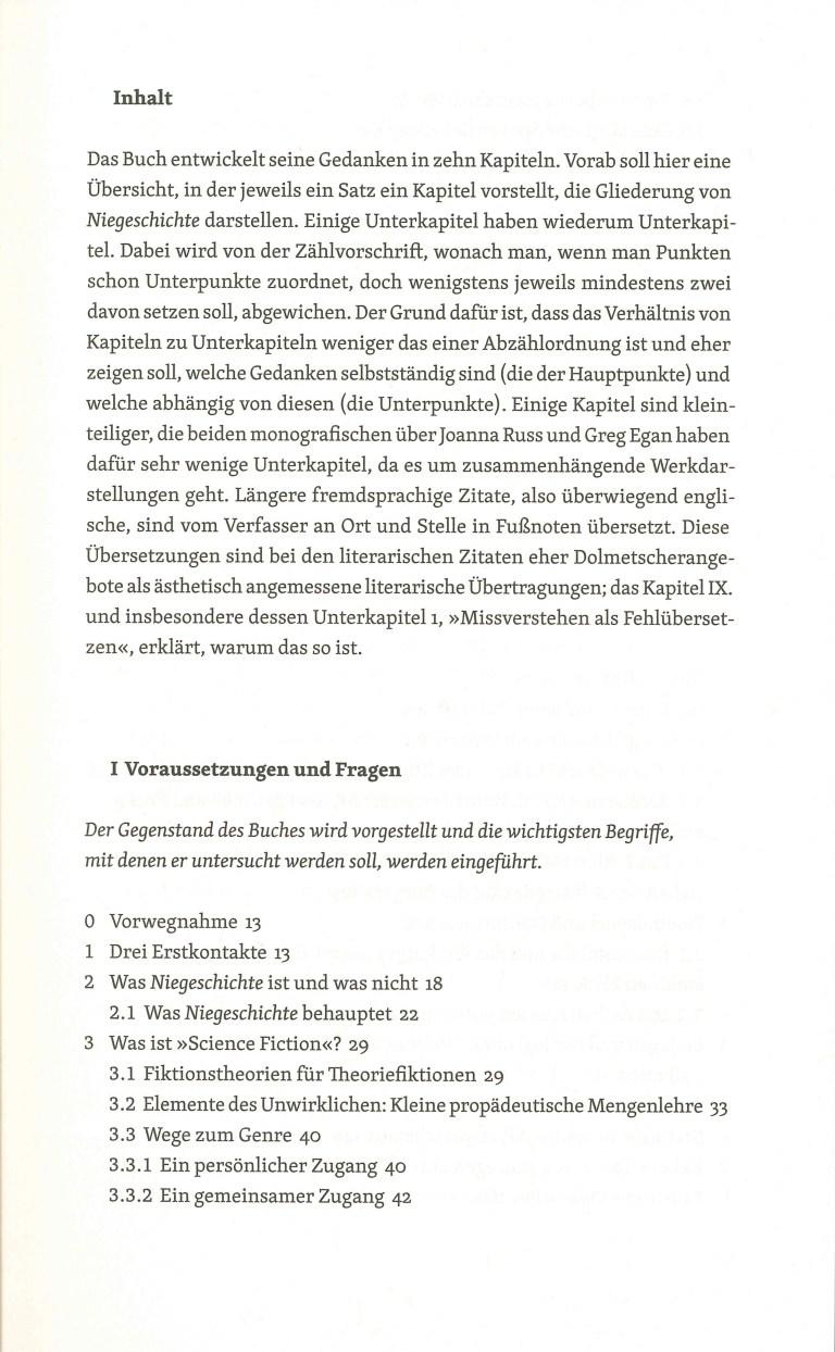 Niegeschichte - Inhalt Seite 1