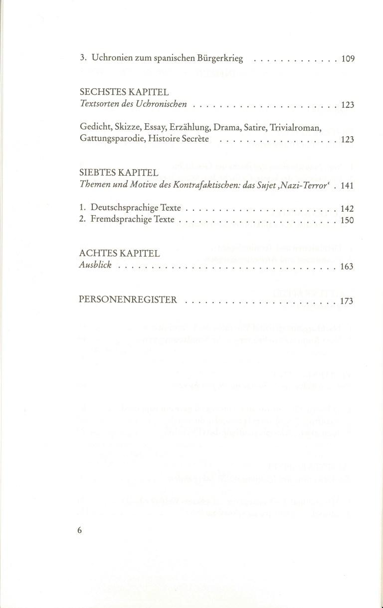 Erfundene Vergangenheit - Inhalts Seite 2