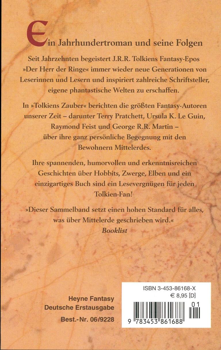 Tolkiens Zauber - Rückencover