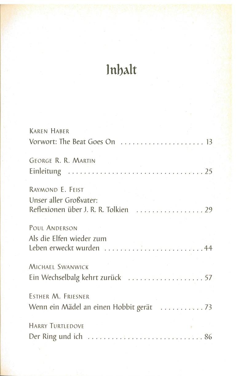 Tolkiens Zauber - Inhalt Seite 1