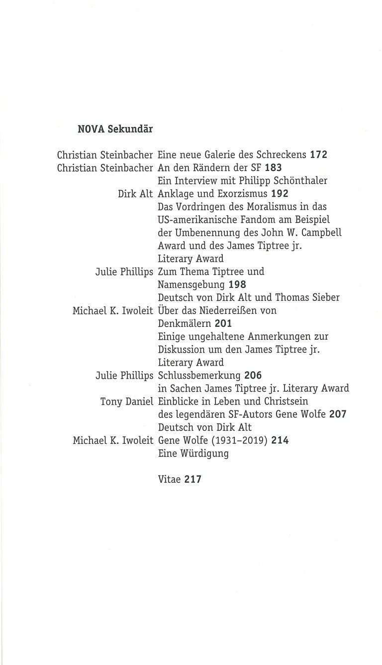 Nova 28 - Inhalt Seite 2