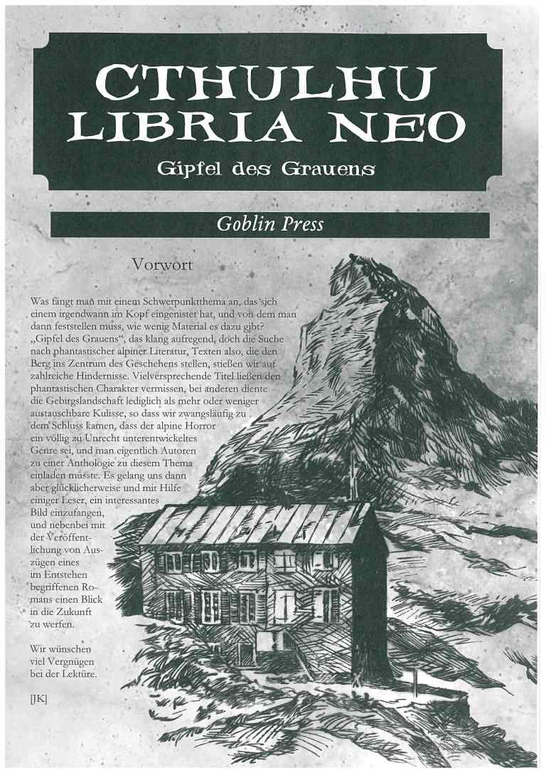Cthuluhu Libria Neo - Nr. 8, Gipfel des Grauens