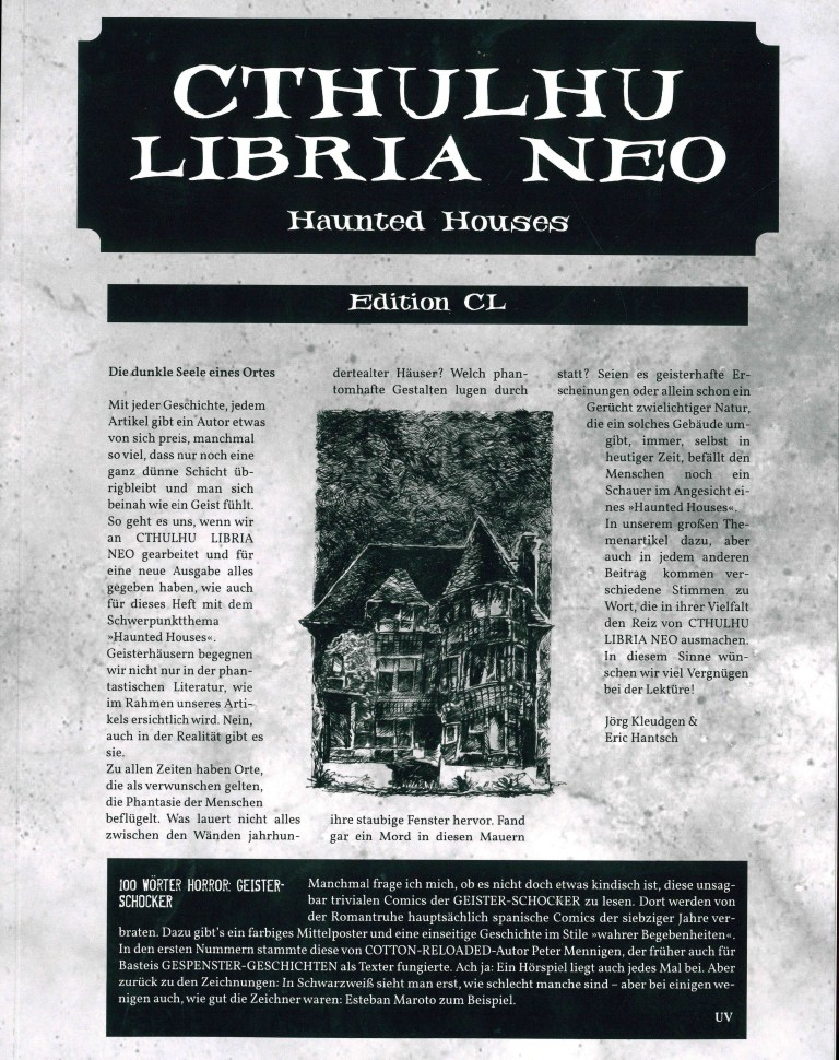 Cthuluhu Libria Neo - Nr. 3, Haunted Houses