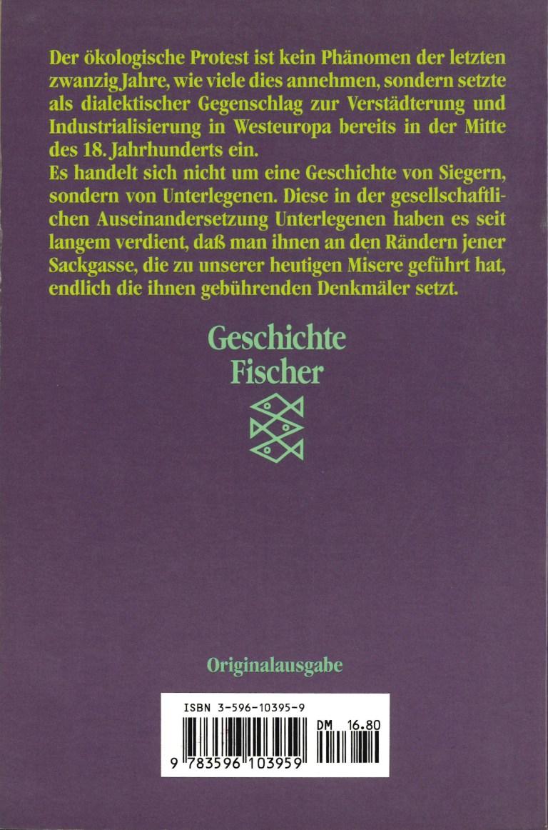 Grüne Utopien in Deutschland - Rückencover