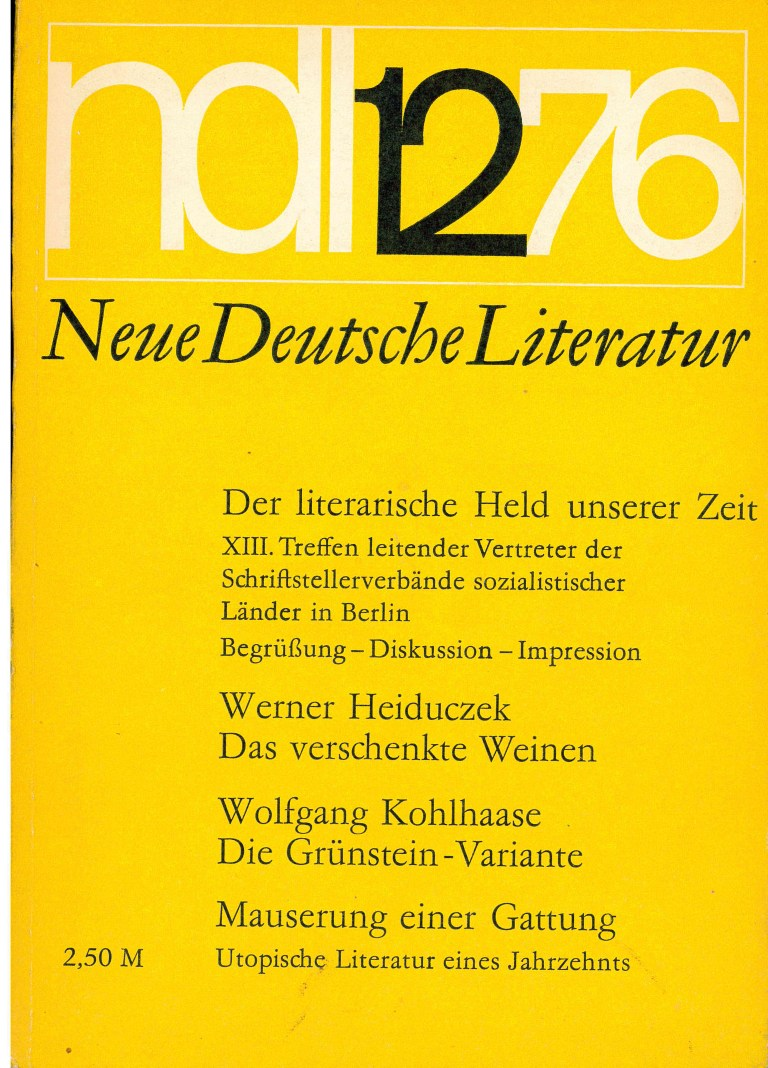 Neue deutsche Literatur - 1976/12 - Titelcover