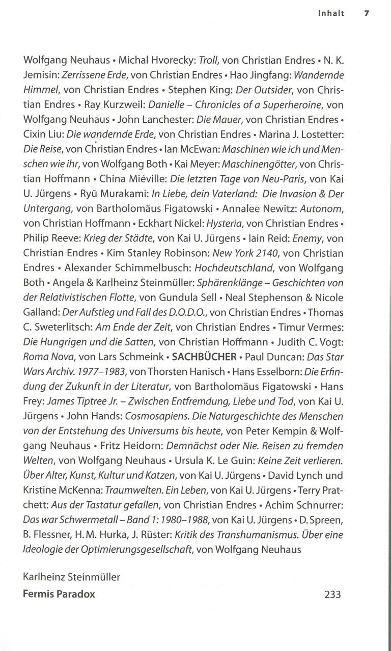 Science Fiction Jahr 2019 - Inhalt Seite 3