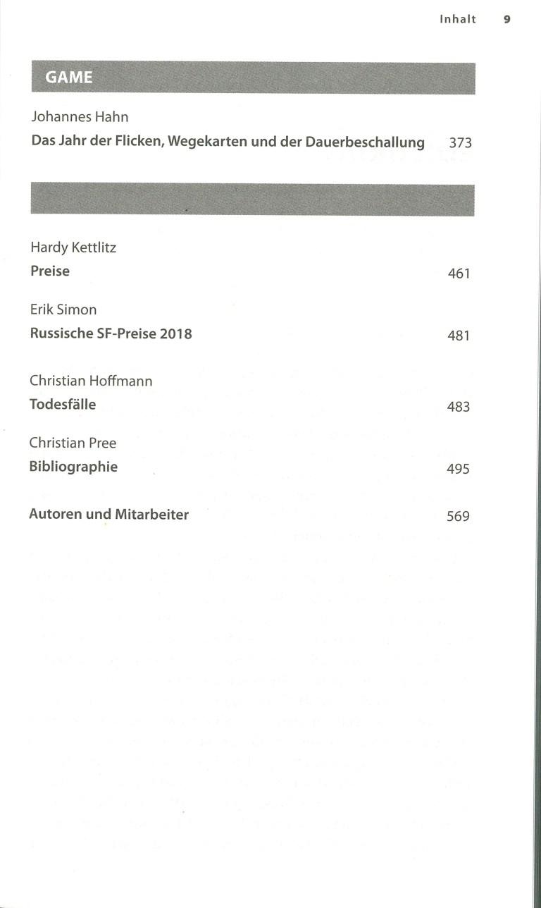 Science Fiction Jahr 2019 - Inhalt Seite 5